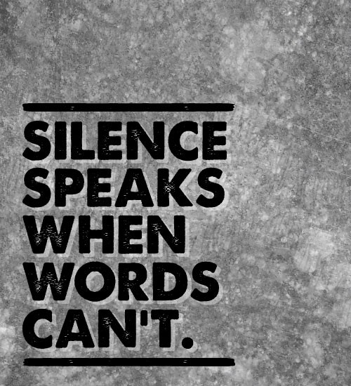 be silent or say something better So if you see something, say something  (desmond tutu) silence in the face of  injustice is complicity with the oppressor (ginette sagan).